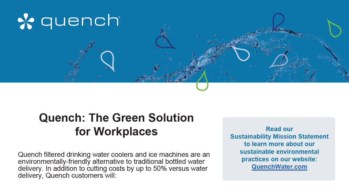Quench Environmental Sustainability Flyer